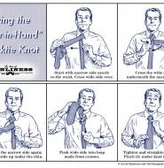 如何打活结的领带结:60秒的视觉指南