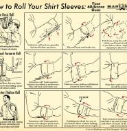 怎么卷你的衬衫袖子:60秒视觉指南
