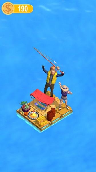 木筏钓鱼记