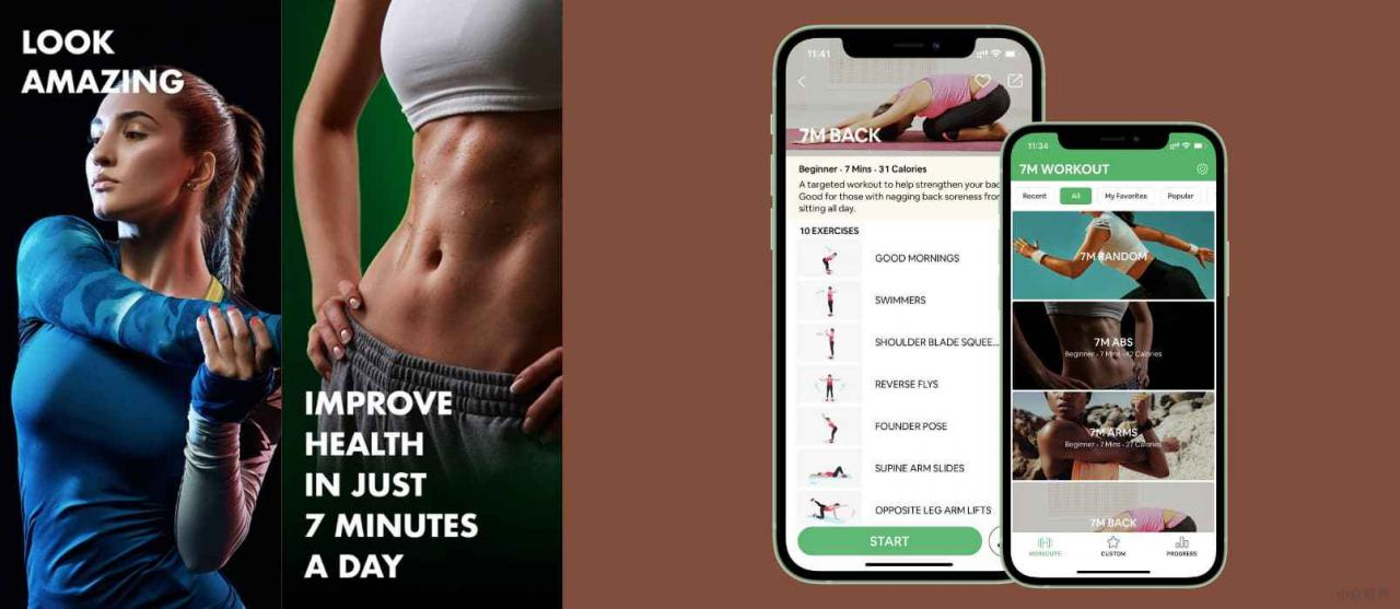 7 Minute Workout - 拥有 30+ 组动作的 7 分钟锻炼健身应用[iPhone/Android]