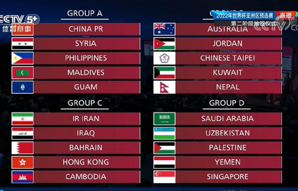 世界杯预选赛2021赛程中国队赛程表 12强赛赛程表